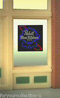 Pabst Blue Ribbon Beer Window Sign -can Be Trimmed As Small As 0.9 W X 0.6 T