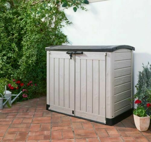 Large Plastic Storage Box Home Garden Patio Outdoor Shed Bins Tools Bikes Chest