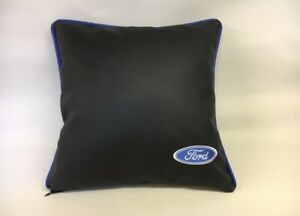 Faux-Leather-Ford-Style-17-Cushion-Cover-With-Fibre-Filled-Inner-Brand-New