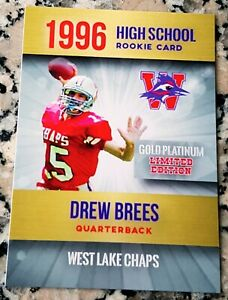 DREW-BREES-1996-GOLD-Platinum-SP-Rookie-Card-RC-2000-Saints-Superbowl-MVP