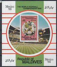 XG-Z007 MALDIVES IND - Football, 1986 Mexico World Cup Winners Ovp. MNH Sheet