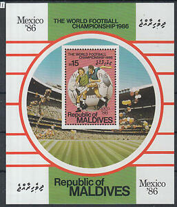 XG-Z007-MALDIVES-IND-Football-1986-Mexico-World-Cup-Winners-Ovp-MNH-Sheet