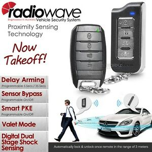 Complete Set RADIOWAVE Auto Passive Keyless Entry PKE Car Alarm + ...