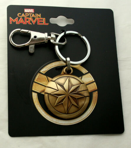 Captain Marvel Star Burst Comic Collectors Key Chain New on Card