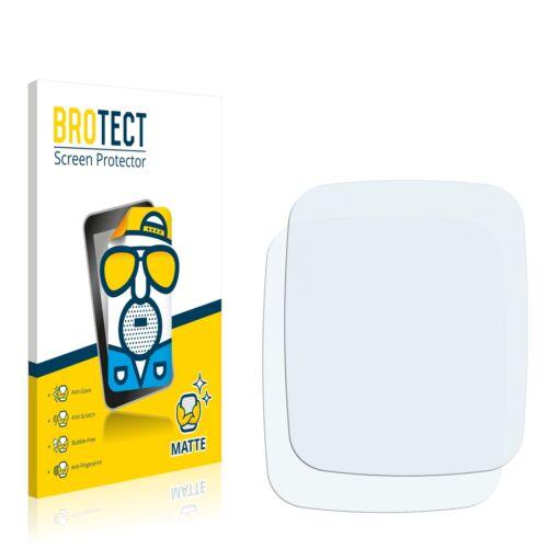 2x láminas protectoras de pantalla para asus zenwatch wi500q Matt antirreflejos