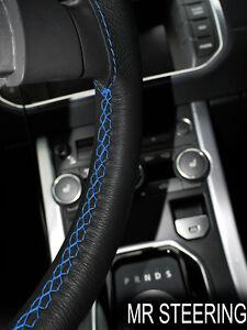 Pour vw caravelle T4 noir volant en cuir couverture bleu clair double stitch  </span>