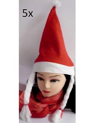 "5x Cappello Natalizio Babbo Natale Cappello Natale Scorso Natale Costume Christmas-e Nikolaus Mütze Weihnachten Weihnachtsfeier Kostüm Christmas"" Data-mtsrclang=""it-it"" Href=""#"" Onclick=""return False;""> Gradevole Al Gusto"