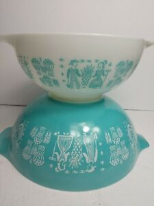 Vintage-Pyrex-Amish-Butterprint-Cinderella-Bowls-443-and-444