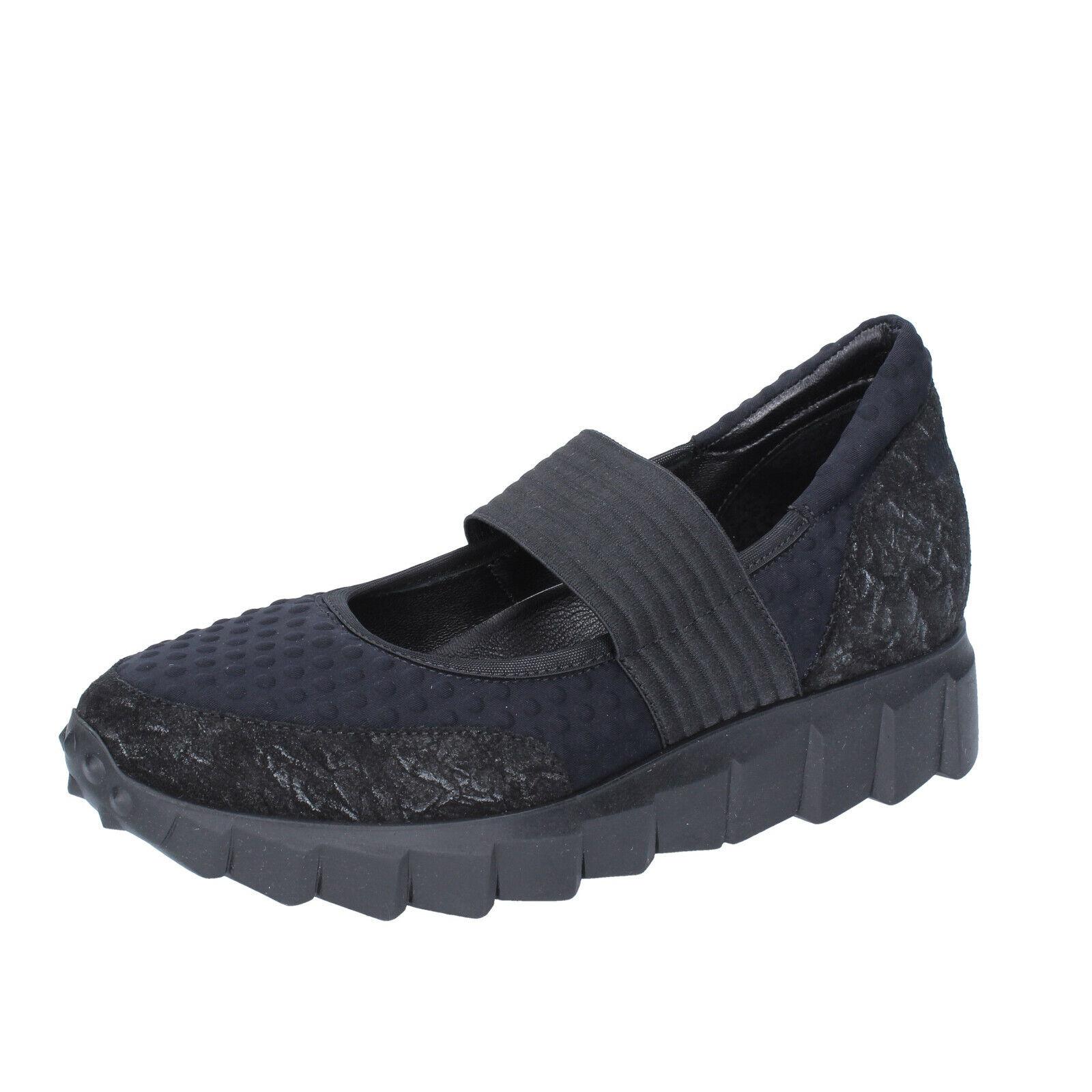 Ultimo 2018 Donna  scarpe ANDIA ANDIA ANDIA FORA 8 (EU 38) flats nero suede textile BS639-38  marchi di stilisti economici