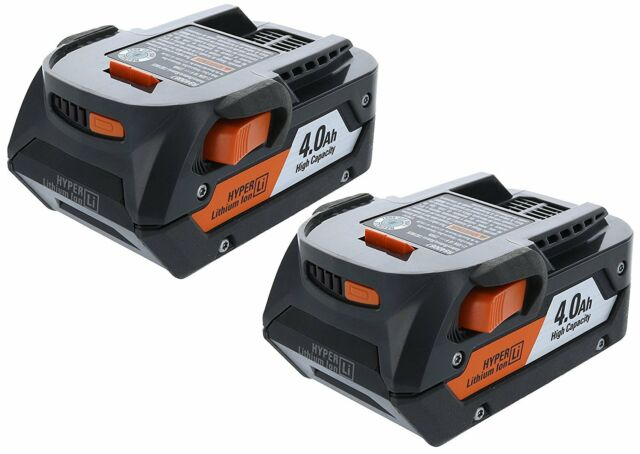 2 New Ridgid 18 Volt 4.0 Ah Lithium Ion Batteries Model # R840087