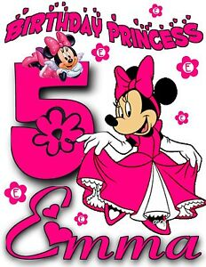 Image Is Loading Happy Birthday Minnie Mouse Personalized Minni