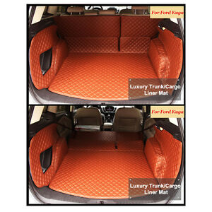 Trunk-Boot-Liner-Carpet-Durable-Full-Cover-Mats-For-Ford-Escape-Kuga-2012-2016