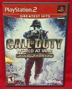 Call of Duty World War -  PS2 Playstation 2 Game 1 Owner NEAR Mint Disc Complete
