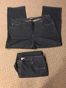 Woman-Within-Blue-DarkJeans-Womens-Plus-Size-28W-ARCshelf