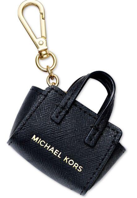 2ea6a63696a0cc Michael Kors Selma Key Fob Charm Black Saffiano Leather Purse 32x5gkck4l
