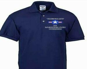 RAF MENWITH HILL STATION UNITED KINGDOM USAF EMBROIDERED POLOSHIRT/SWEAT/JACKET.