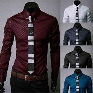 Fashion-Mens-Luxury-Casual-Dress-Shirt-Stylish-Slim-Fit-Long-Sleeve-Men-Shirts