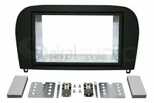 MERCEDES BENZ SL-Class 2001-2012 Radio Dash Kit Standard 2DIN RUBBERIZED BLACK