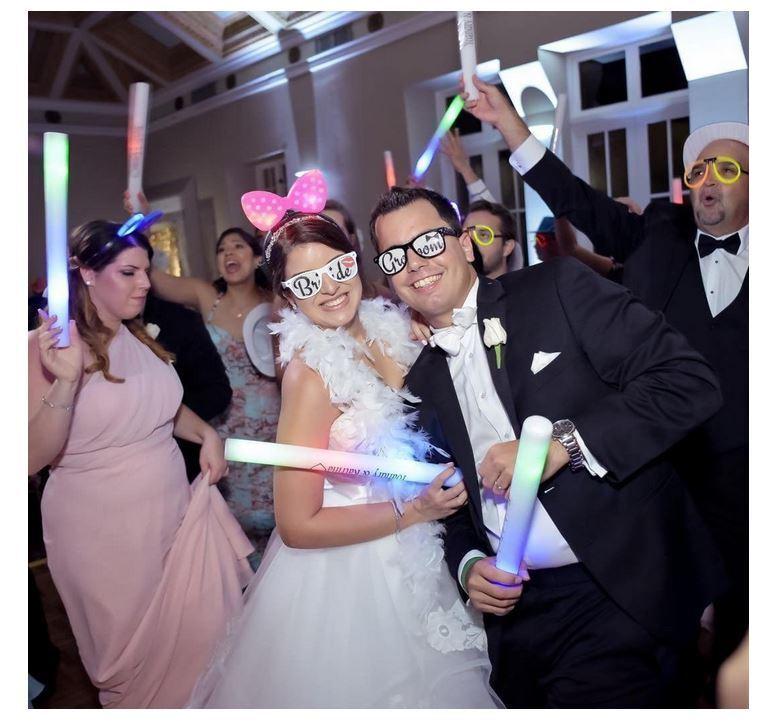 150 Light Up Mousse Batons Personnalisé Personnaliser Glow Baton Baguette Mariage Anniversaire