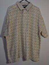 Greg Norman Short Sleeve Beige Golf Polo Shirt Size XXL