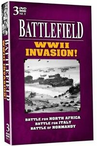 Battlefield WWII Invasion 3 Disc DVD North Africa Italy