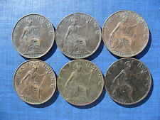 Victoria Farthings 1896 - 1901. 6 Coins.