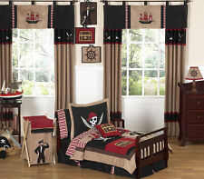 Pirate Ship Nautical Boy Toddler Size Bedding for a Kid Bed Comforter Sheet Set
