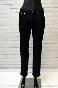 Jeans-Nero-con-Brillantini-Donna-TRUSSARDI-Taglia-30-Pantalone-Pants-Woman