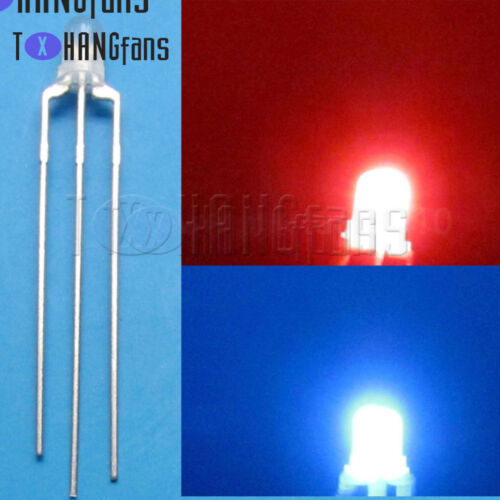 3mm 5mm Dual Bi-Color 3pin Diffused//Clear Common Anode//Cathode LED Lamp ATF
