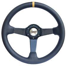 COLIN* Volante Auto in pelle e carbonio Simoni Racing x Fiat 500 126 Epoca *