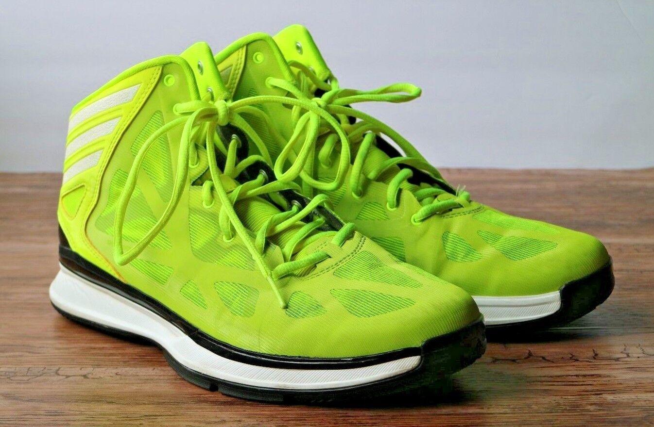 Adidas pazzo ombra 2 uomini scarpe nero da basket giallo / nero scarpe taglia 11 q33388 volt. 19f258