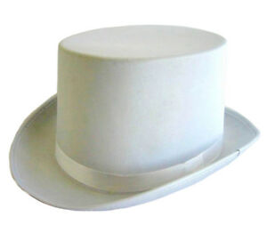 WHITE-SATIN-TOP-HAT-WITH-RIBBON-FANCY-DRESS-PARTY