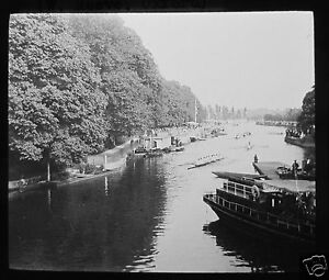 Glass-Magic-Lantern-Slide-OXFORD-EIGHTS-DATED-1923-OXFORDSHIRE-BOAT-RACE