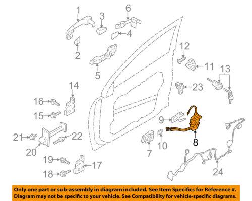 HYUNDAI OEM 11-15 Sonata Front Door-Lock Actuator Motor 813203S020