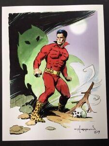 THE-JAGUAR-Golden-Age-Superhero-Art-SIGNED-Print-by-Mike-Hoffman