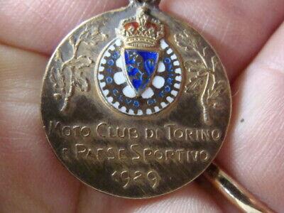 Avere Una Mente Inquisitrice Medaglia Moto Club Torino 1929 Gara Regolarità