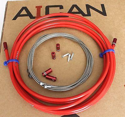 Aican PREMIUM MTB Road bike bicycle BRAKE DLC cable housing set kit,Shimano Gray