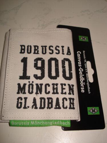 Geldbörse Borussia Mönchengladbach//Canvas Fussballbundesliga Fanartikel