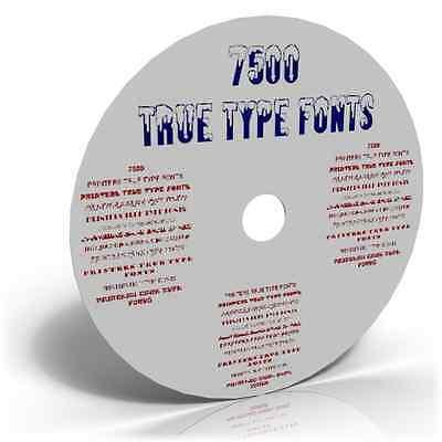 7,500 TRUE TYPE TRUETYPE FONTS & TYPEFACES CARDMAKING