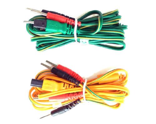 ^oL Kit 2 cavi fili filo ricambio elettrostimolatore Tesmed te 780plus te780-b