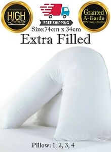V-Shape-Pillow-Extra-Filled-Orthopedic-Back-Support-Maternity-Pack-of-1-2-3-4