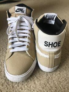 detailed look a82bb cdf12 Details about Used Nike SB Blazer Premium Lost Shoe Sz 10.5 Stussy Orange  Dunk Label Off White
