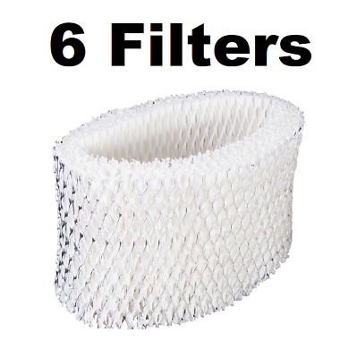 6 Pack Compatible Holmes H62 HWF-62 HWF62 Wick Humidifier Filters
