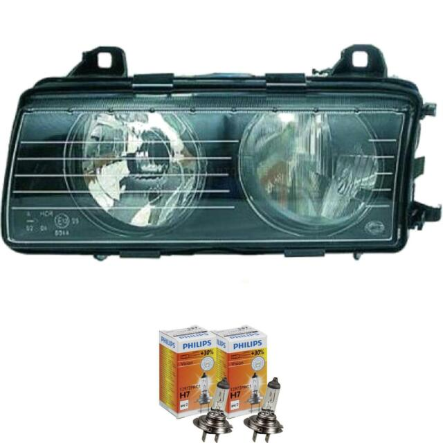 Scheinwerfer links BMW 3er E36 Bj. 94-99 Hella H7 inkl. PHILIPS Lampen 1371975