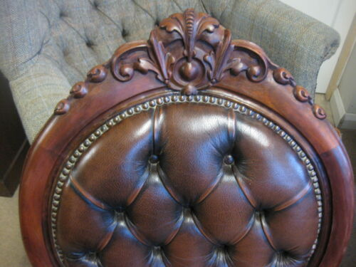 Chesterfield Style Reproduction Leather Nursing Chair