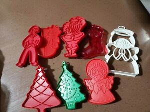 Snowman Angel and Bear Imprint Cutters  70s80s Hallmark Christmas Cookie Cutters