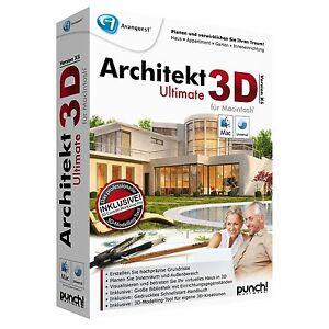 Architekt 3d ultimate x5 mac box tedesca cd dvdinkl for Architekt 3d professional