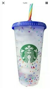 STARBUCKS-COLOR-CONFETTI-SUMMER-PRIDE-2020-CUP-WITH-STRAW-Rainbow-FREE-SHIP