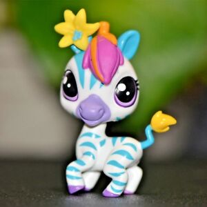 Littlest-Pet-Shop-Special-Edition-LPS-3846-Zebra-Purple-Eye-Rare-Christmas-Gift
