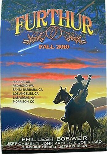 FURTHUR GRATEFUL DEAD 2010 FALL TOUR POSTER #10 DEAD /& CO